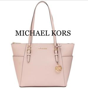 MICHAEL KORS  Charlotte Large Leather Top-Zip Tote